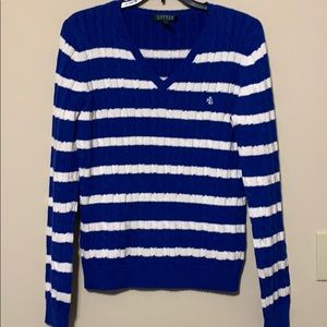 Lauren by Ralph Lauren cable knit sweater lg